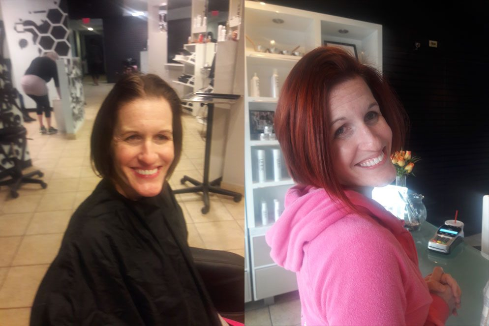 Redhead – Before & After